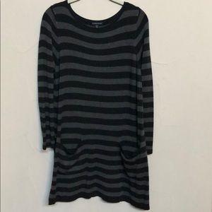 EUC Eileen Fisher  charcoal&gray tunic/dress